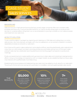 Accelity Sales Services Case Study